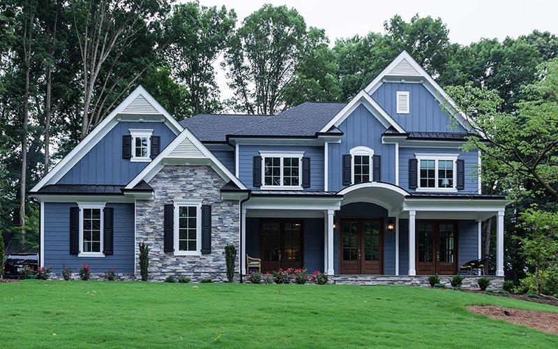 Custom Home - Front Elevation